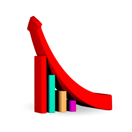 growing business: growing business graph with rising arrow