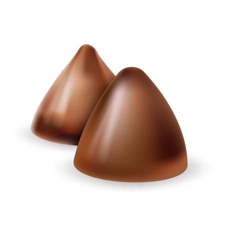 chocolate truffle: Truffle chocolate candy vector