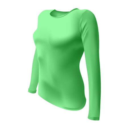long sleeves: T-shirt with long sleeves women vector
