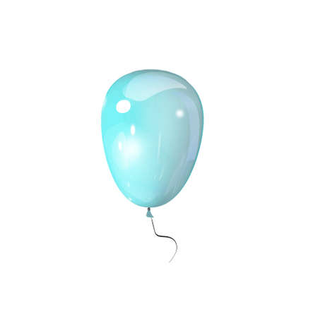 handcarves: blue balloon 3d on a white background vector