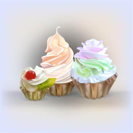 sprinkle: cake vector Illustration