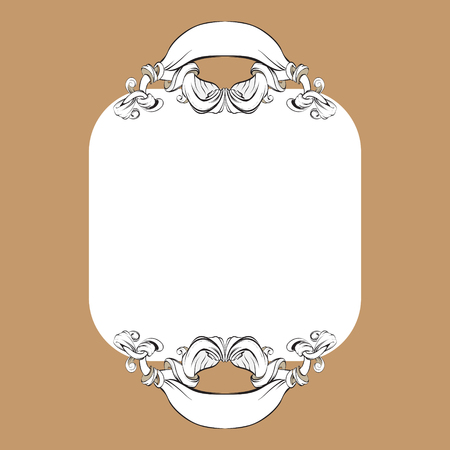 ornament pattern vintage frame illustration set