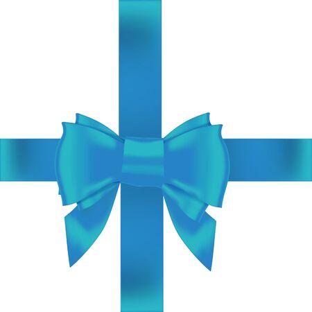 hair bow: pink bow ribbon gift vector Illustration
