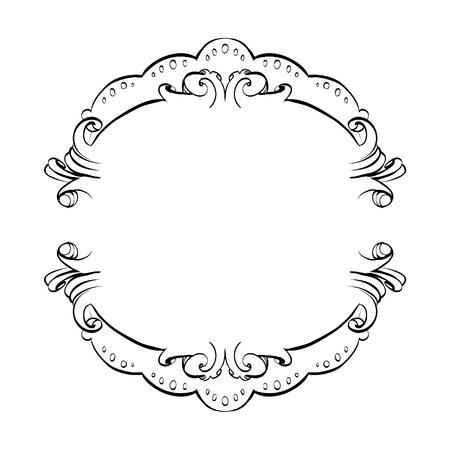 framing: decorative elements in vintage style for decoration layout, framing, for advertising, vector illustration hands Illustration
