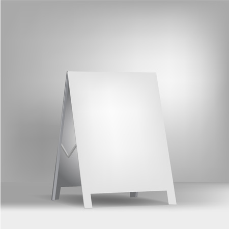 portative: white advertising stand. vector on white background