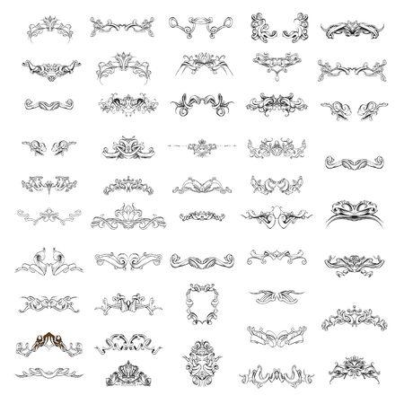 decor vintage frame pattern illustration Ilustrace