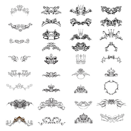 fantasy templates crown tiaras symmetrical watercolor illustration vector