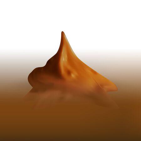 curled lip: cream cake or ice cream vector