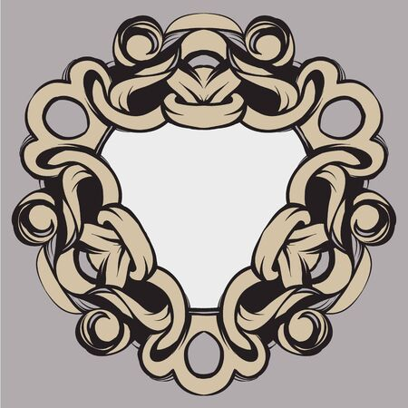 framing: decorative elements in vintage style for decoration layout, framing, for text for advertising, vector illustration hands