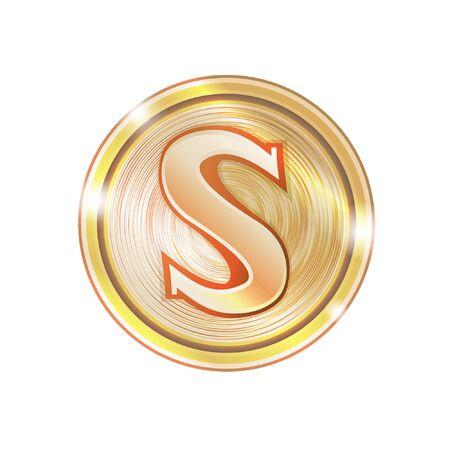 gold dollar coins vector