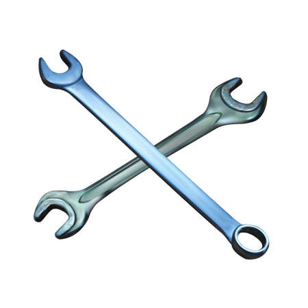 tooling: wrench vector isolated object