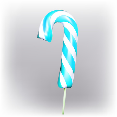 sucking: candy, sucking on a stick vector Illustration