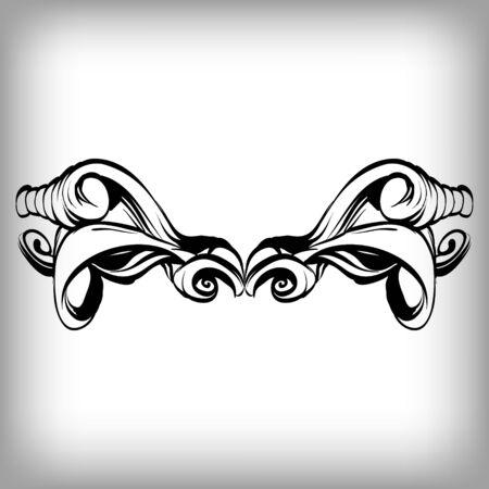 framing: decorative elements in vintage style for decoration layout, framing, for tektsta for advertising, vector illustration hands