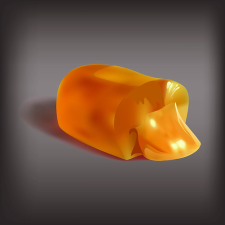 coughing: candy, jelly filled, liquid filling, sucking candy, cut, icon, isolated object vector