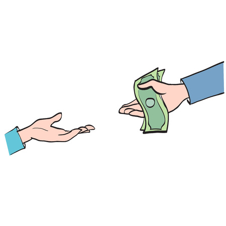 transfers: Hand transfers the money, partnership, cooperation calculation symbol icon vector