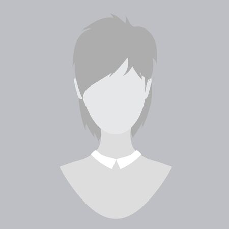 nude black woman: Flete guy, man, woman, avatar, profile photo, gray silhouette isolated vector