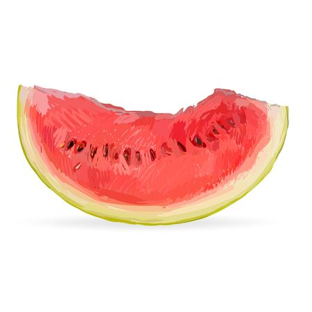 watermelon slice: watermelon slice, cut, red, isolated vector