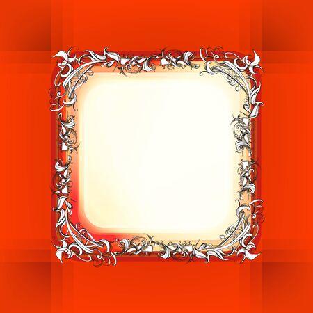 framing: decorative elements in vintage style for decoration layout, framing, for advertising, illustration hands Illustration