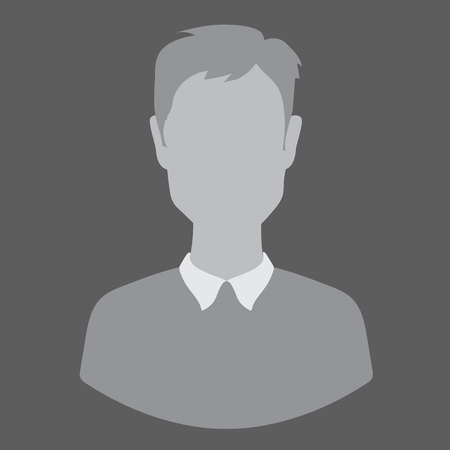 Flete guy, man, woman, avatar, profile photo, gray silhouette isolated vector
