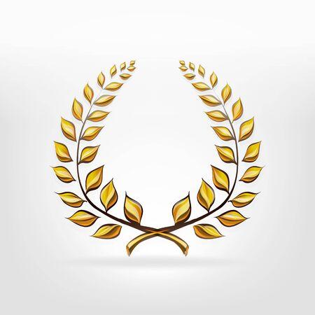 corona di alloro vincitore del premio di vettore