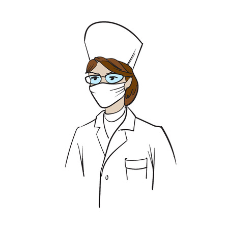 doctor in medical clothes vector woman