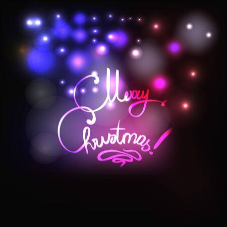 defocus: Merry Christmas vector illustration Illustration