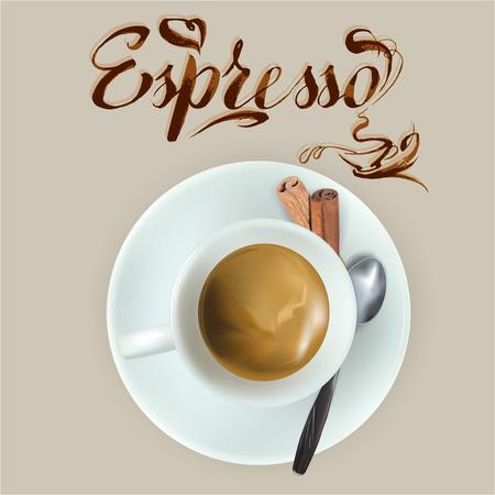 vector cup of espresso coffee