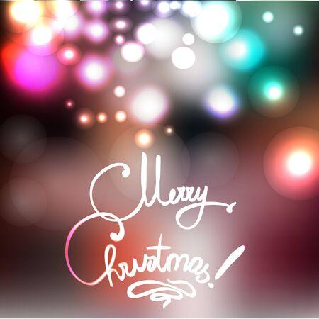 Merry Christmas vector illustration Illustration
