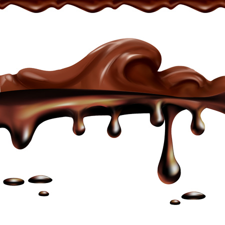 Cocoa caramel vector set