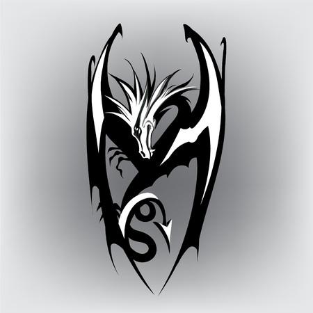 japanese ethnicity: Dragon logo vector Illustration