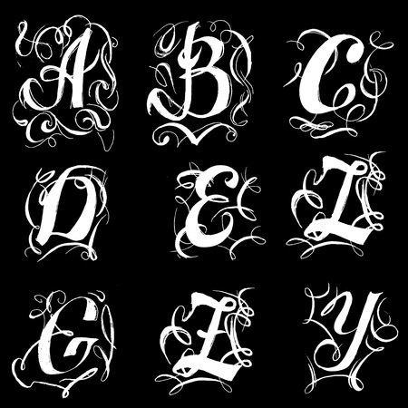 font uppercase uppercase vector vintage