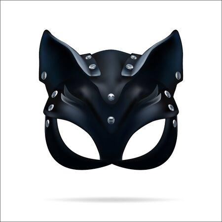 hat cat ladies leather vector