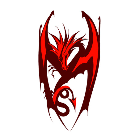japanese ethnicity: Dragon   vector Illustration