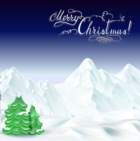 defocus: Merry Christmas vector illustration lettering