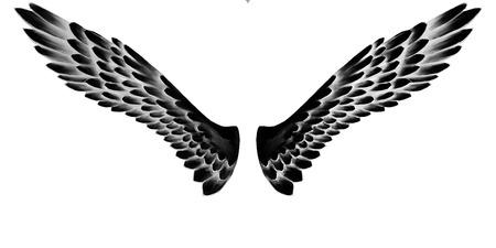 천사 날개, 글자, 그림 스톡 콘텐츠