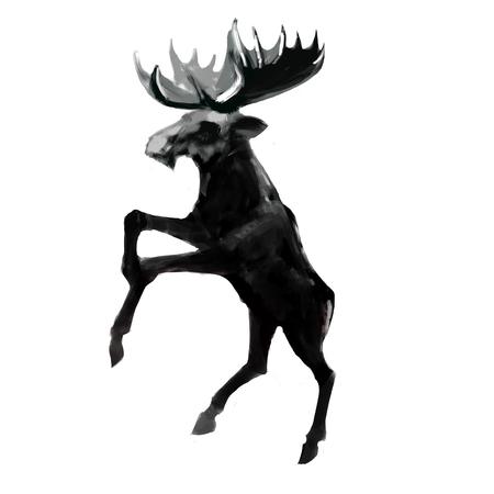 wild venison: moose jumping logo
