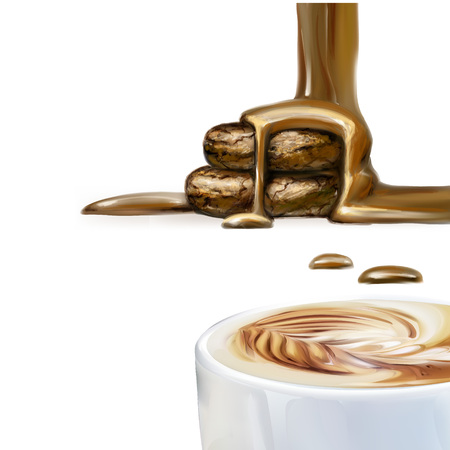 Liquid chocolate, caramel or cocoa illustration vector. Illustration