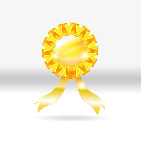 Gold medal award vector