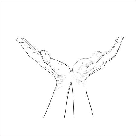 손 손바닥 벡터 스톡 콘텐츠 - 95314352