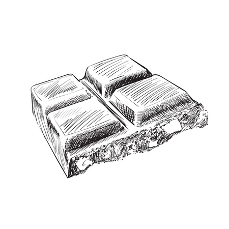 chocolate tile engraving pencil vector illustration Stockfoto