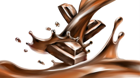 liquid chocolate, caramel or cocoa illustration vector