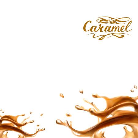 liquid chocolate, caramel or cocoa illustration