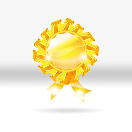 Gold medal award vector