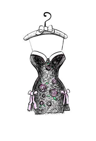 corset female 3d mannequin 3d rendering 3d illustration