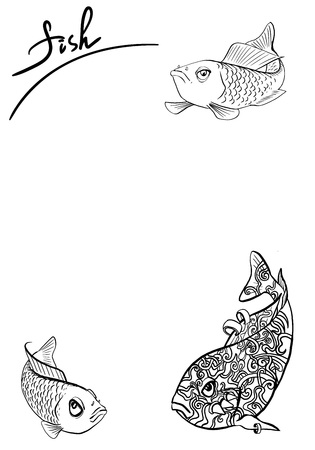 fish vector illustration Ilustracja