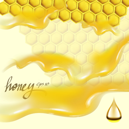 honey honeycomb texture illustration Ilustracja