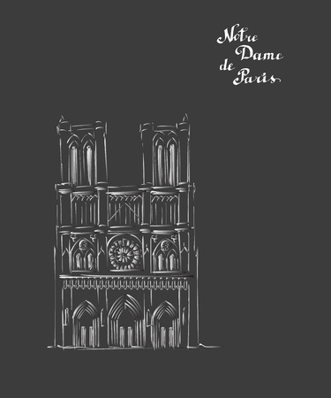 notre dame de paris building sketch