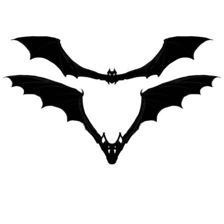 bat halloween vector illustration set Zdjęcie Seryjne