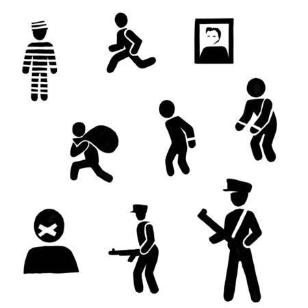 prison labor camp political prisoners cult personality icon set