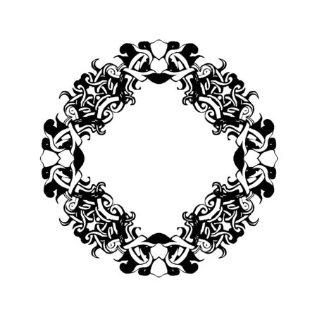 ornament mandala illustration frame set